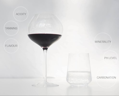 MInerality interacts with the tannins, acidity and the flavors of the wine